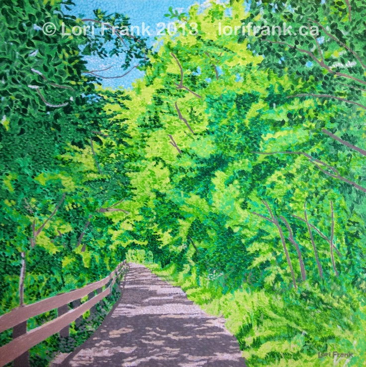 My Edmonton river valley series continues with another trail. Prints available. www.lorifrank.ca