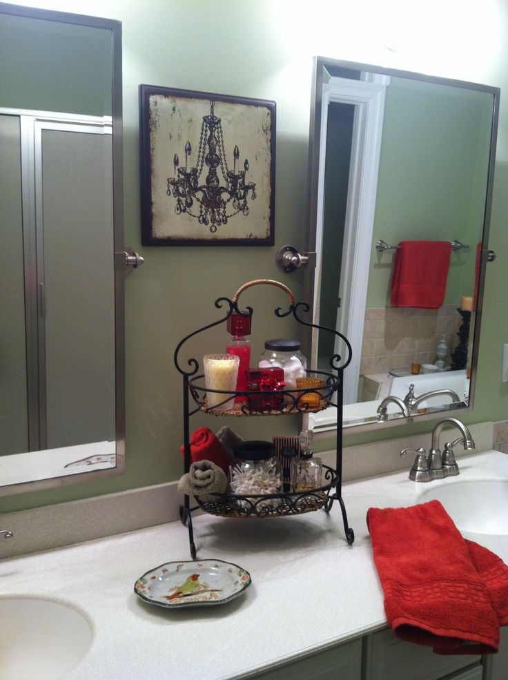 25 best ideas about red bathroom decor on pinterest for Bathroom ideas red and black