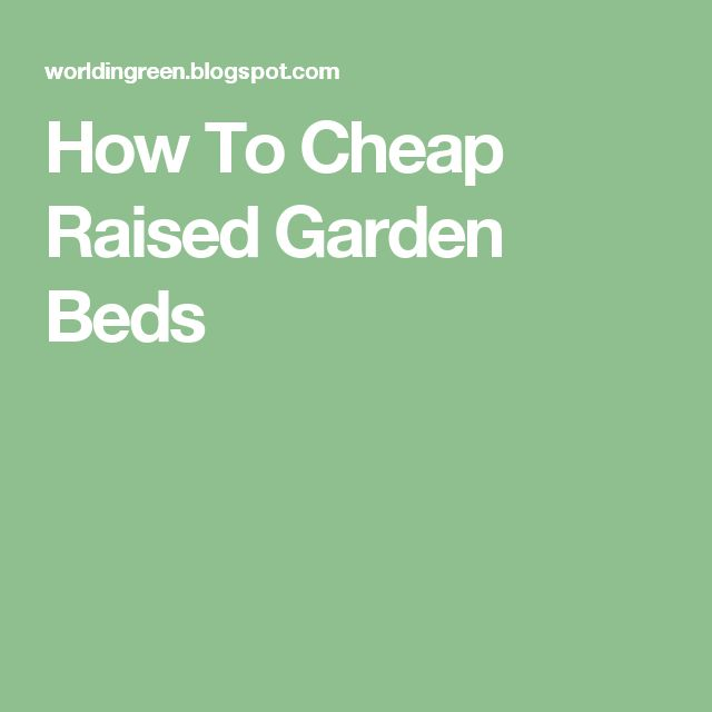 25 Best Ideas About Cheap Raised Garden Beds On Pinterest Diy Raised Garden Beds Raised