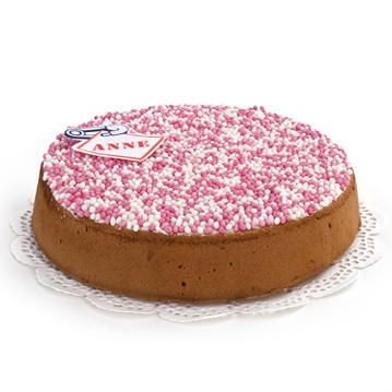 Birth Cake Girl  Price:  €28.65  This glorious birth cake in the shape of a MEGA biscuit with mice can be delivered anywhere in Netherlands. You can make this cake even more personal by a picture or a name to place a more enjoyable and tastier birth gift does not exist. Filled with raw fruit and fresh whipped cream. For 12 people, order today, delivered tomorrow!