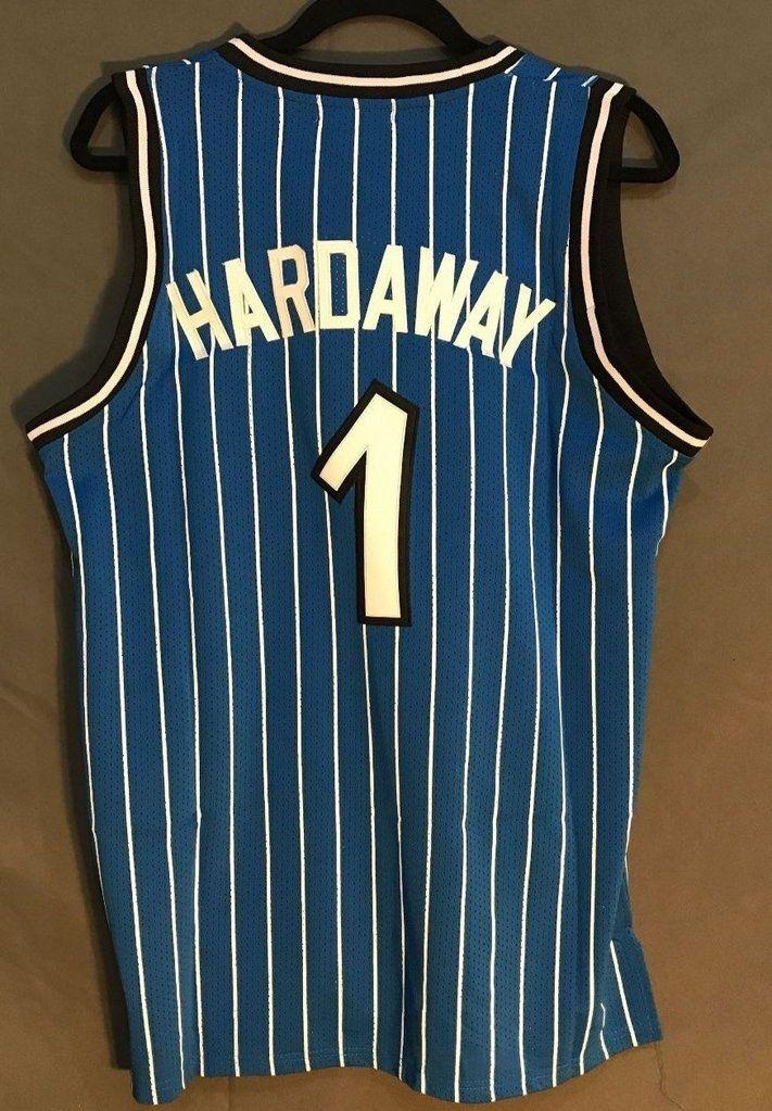 9278dbed4 Men 1 Penny Hardaway Jersey Blue Orlando Magic Swingman Fanatics ...