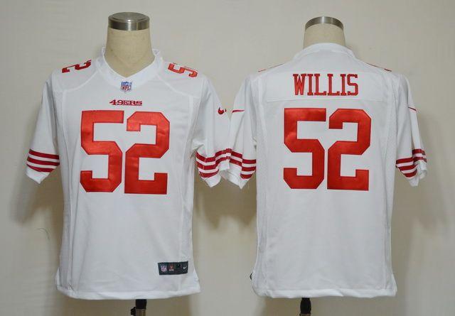 Nike NFL Jerseys San Francisco 49ers Patrick Willis #52 White