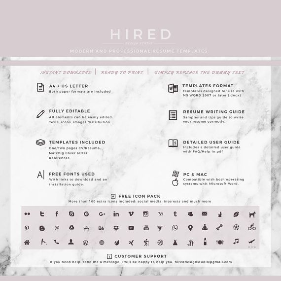 Teacher Resume Template for Word Rachel - 100 Editable - free user guide template