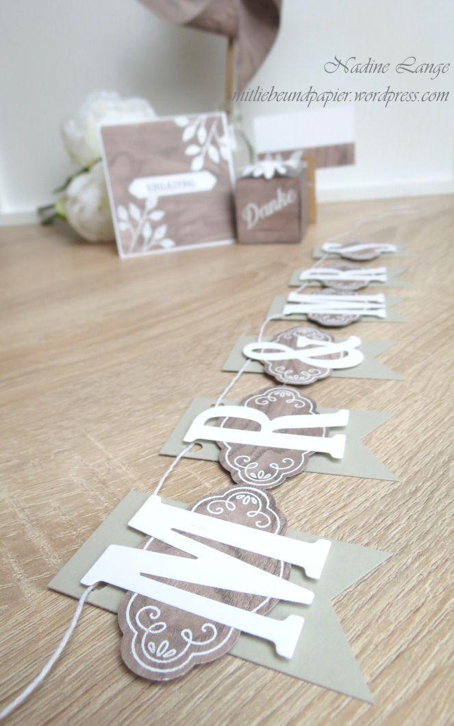 Hochzeitsideen mit Liebe und Papier selber gemacht – Teil 2: rustikal mit Holzoptik (Stampin' Up! Blütentraum)