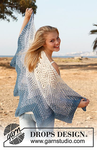 a new design for a crochet granny shawl! I like the shape and colors!