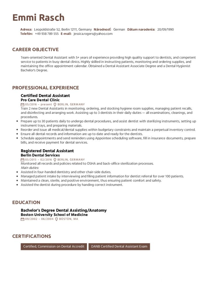 Dental Assistant Resume No Experience Examples 2021 Dental Assistant Resume No Experience Dental