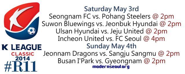 K League Classic 2014 Round 11