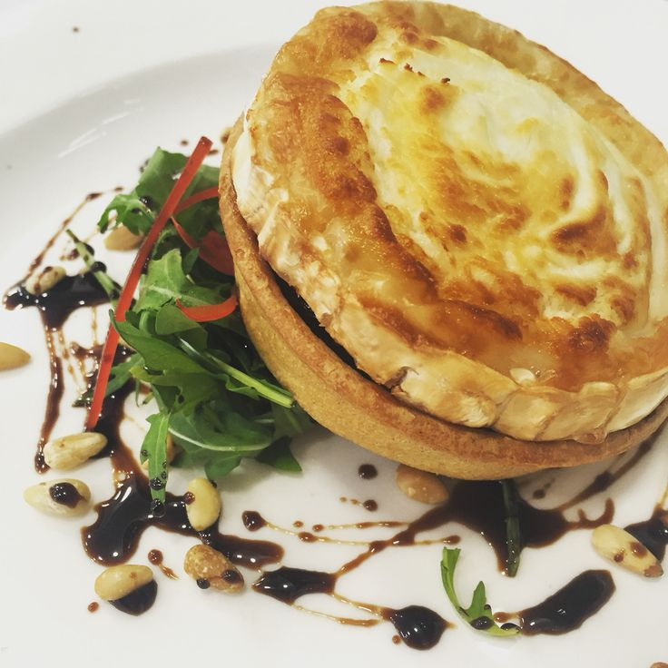 Goats Cheese and caramelised onion tart starter