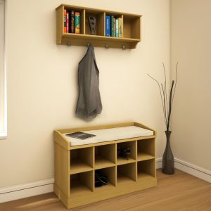 kempton hallway wall rack or storage bench or both with free delivery up to off