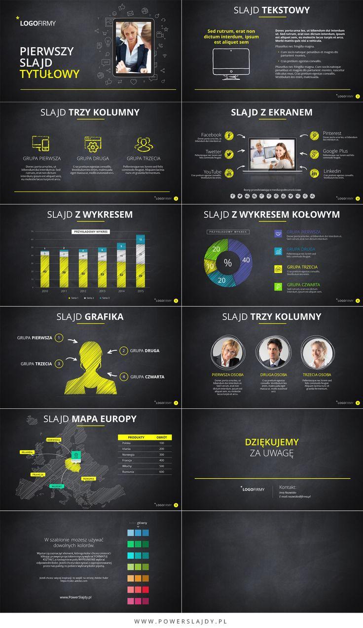 Szablon prezentacji biznesowej w PowerPoint - czarna tablica - http://www.powerslajdy.pl/pl/p/Prezentacja-biznesowa-4/97 . Projekt i wykonanie http://www.powerprezentacje.pl