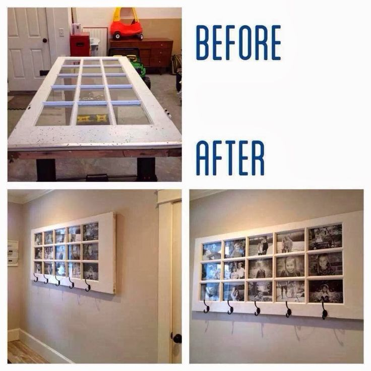 Do It at Home Crafts: Glass door picture frame