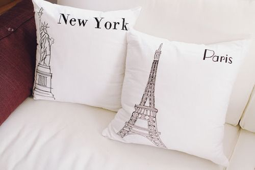 Fashion Beauty Style: Decor, Paris Pillows, Ideas, Interior, Dream, New York, House, Throw Pillows, Bedroom