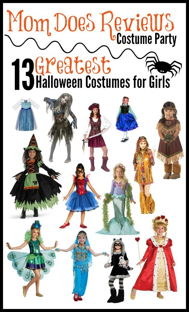 #MomDoesReviews has 13 of the Greatest Halloween Costumes for Girls picked out!  Everything from what all the girls want to the ones you just can't find in stores!  All costumes are under $50 with 95% of them below $30!!!  Super Cute Costumes #Halloween #CostumeParty