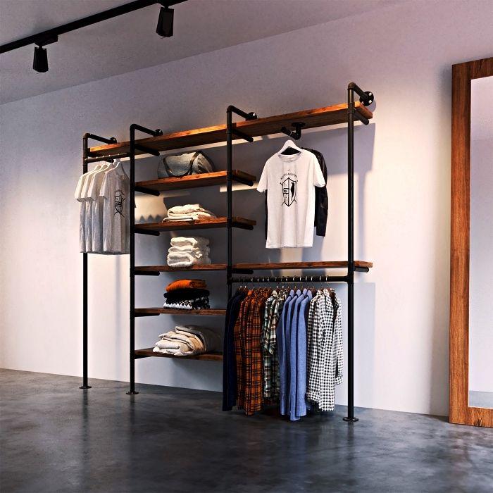 1001 Idees Pour Organiser Ses Vetements Avec Un Dressing Fait Maison En 2020 Dressing Fait Maison Deco A Faire Soi Meme Chambre Petit Meuble Rangement