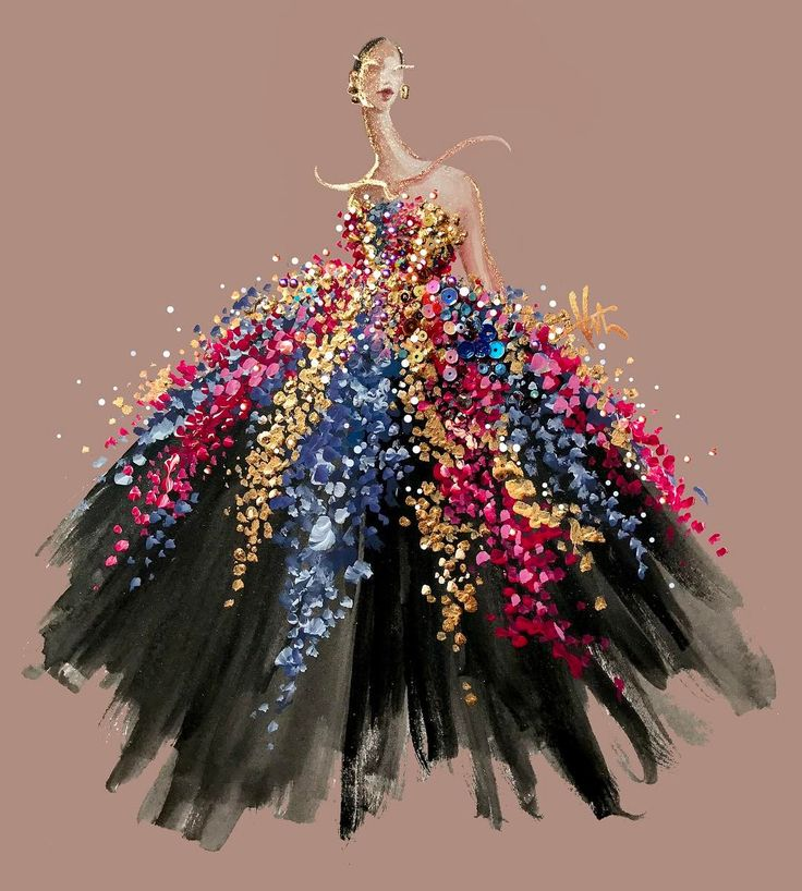 Katie Rodgers - Illustrating Oscar de la Renta Fall 2017 Pt. II - Watch her come to life on InstaStory! #PaperFashionRunway
