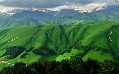 Mountains, Clouds, South Ossetia, Nature