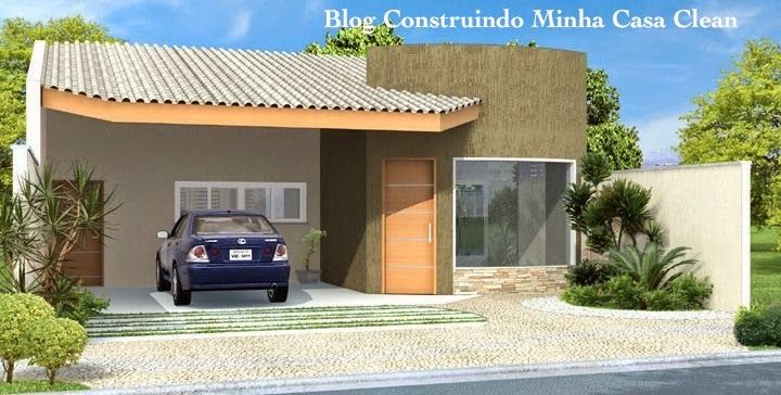 Construindo Minha Casa Clean: Fachadas de Casas Térreas Pequenas com Garagem!