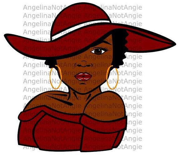 Afro Woman Svg Dxf File African American Woman In Hat