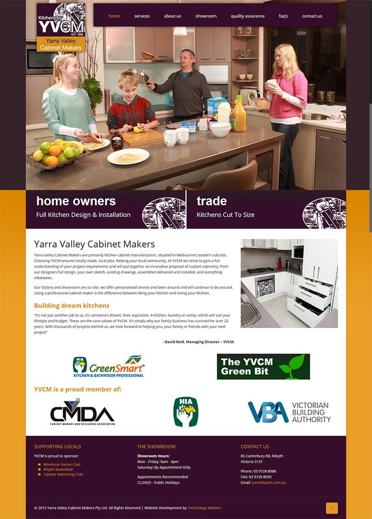OUR PORTFOLIO Yarra Valley Cabinet Makers -Technology Matters, Melbourne.