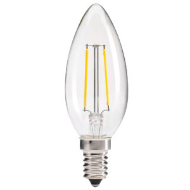 3 Watt - E14 LED Filament - Candle Bulb - Dimmable