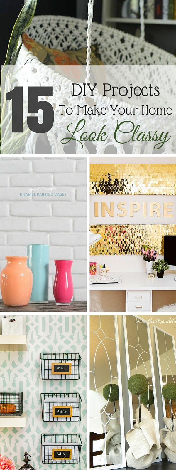 119 best home ideas images on pinterest kitchen home and 15 diy projects to make your home look classy