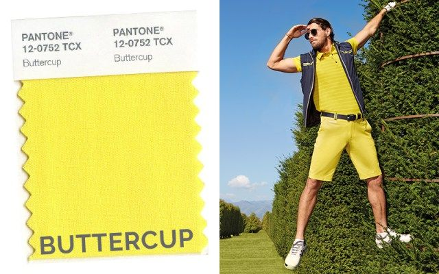 Top colors on the green Spring/Summer 2016: yellow buttercup. Golf sportswear