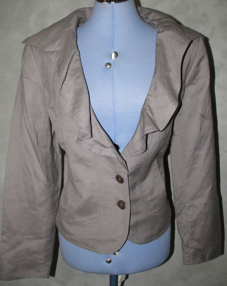 Klass Ladies size 16 Formal Jacket Grey Hip Length No Pattern Fully Lined