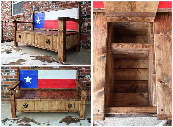 Up For Sale Today Is This Texas Flag Rustic Style Bench