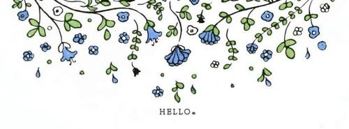 Facebook cover - Hello vines and flowers