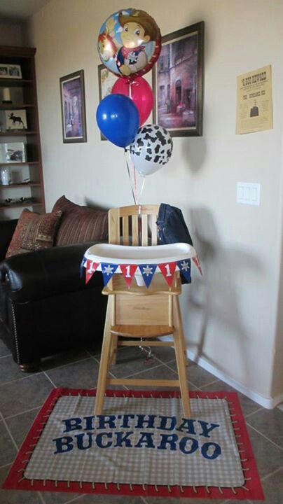Cowboy birthday party baby's first toddler Western Country