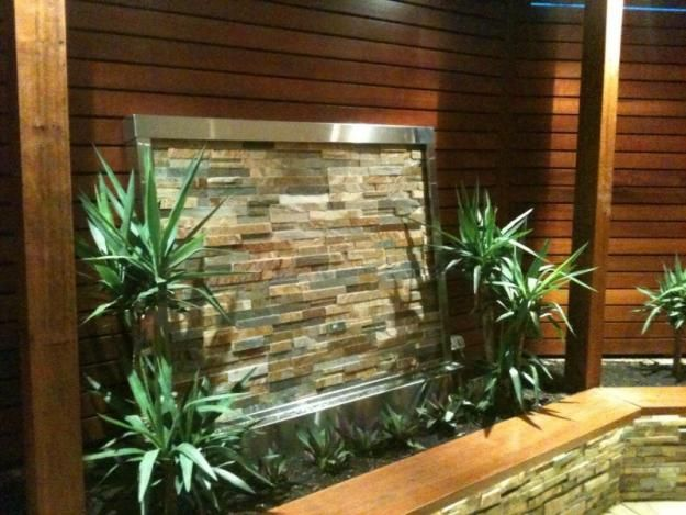 13 best images about garden feature wall on pinterest for Garden water wall designs