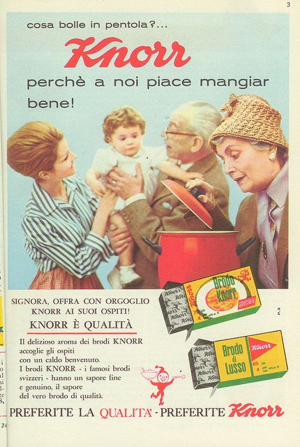 Pubblicità dadi Knorr 1962