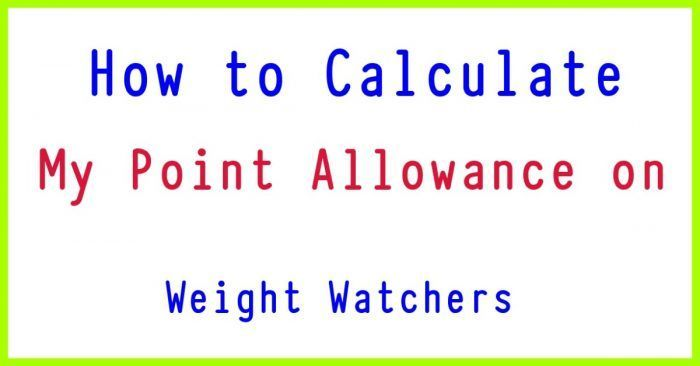 How to Calculate Your Daily Weight Watchers SmartPoints Allowance - Tasty Points.