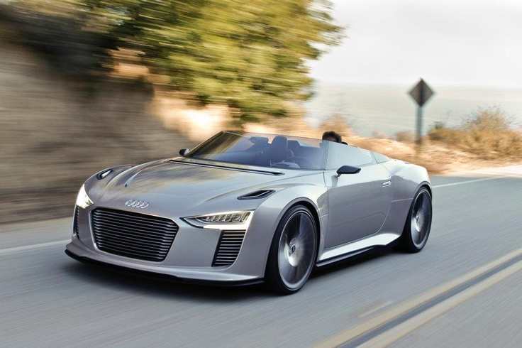 Audi e-tron front angle shot