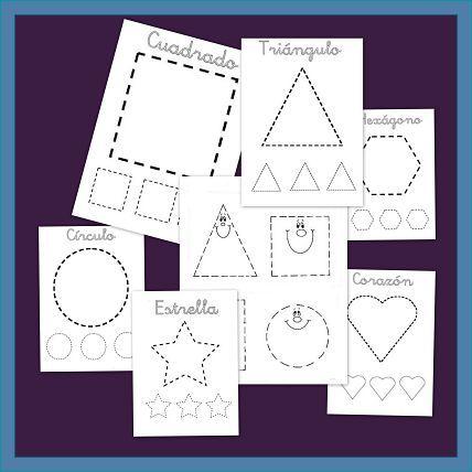 Recursos para el aula: formas geométricas para recortar