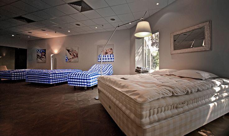 Ready, steady, sleep gently!@ Hästens Showroom, Bucharest From left to riight: Luxuria, Proferia, Lenoria, 2000T