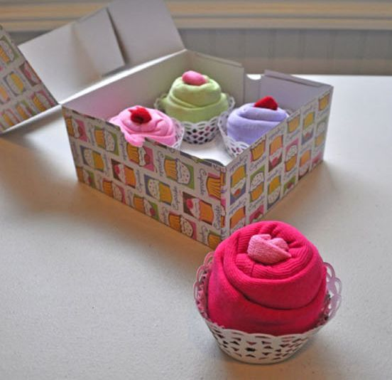 """Adorable """"Cupcake Onesies"""" for a Baby Shower Gift!"""