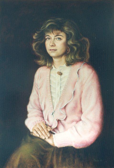 Alessandra (1992) - Olio su tela, 80x100 cm.