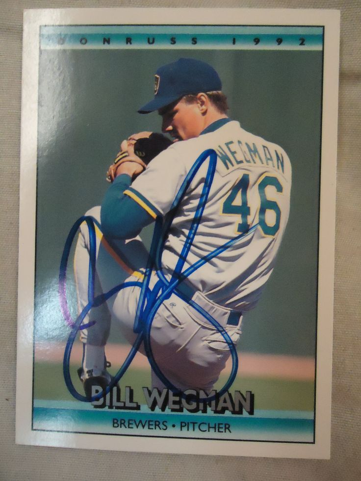 1992 donruss 378 bill wegman ttm baseball cards