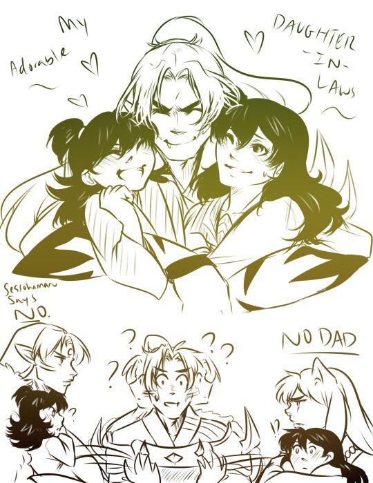 Kogome, inuyasha, rin e sessomuro (CANT SPELL !!! XD)
