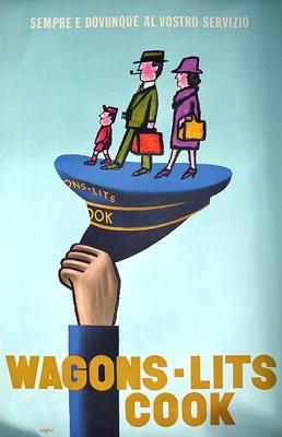 Galerie Montmartre - Wagons-Lit Cook (1961) by Raymond Savignac