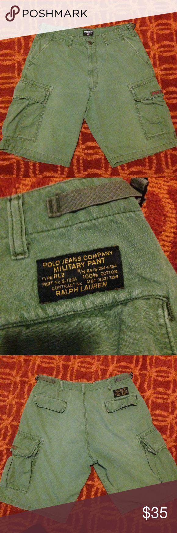 Vintage Polo Jean Company Military Pant Green forest  vintage Polo Jean by  Ralph Lauren Military cargo short....9/10 condition Polo by Ralph Lauren Shorts Cargo