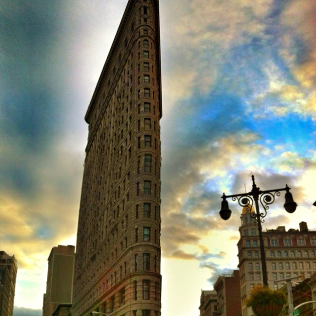 The Flatiron building in Manhattan is  a place I always go back too