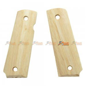 RAW Wood Grip Cover for Marui 1911 Airsoft GBB Painting Design