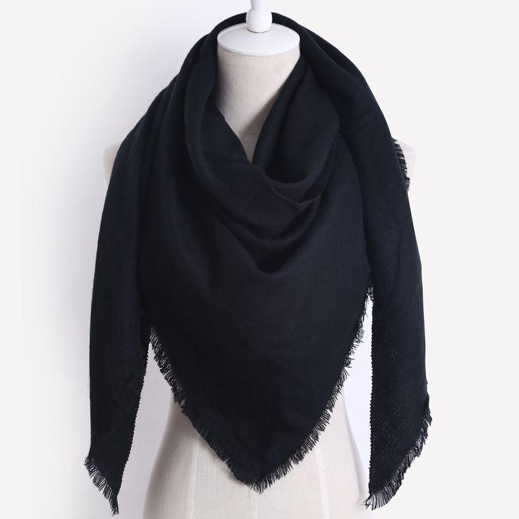 Marke Designer Winter Schal Für Frauen Kaschmir Mode Warme einfarbig Dreieck Schal Weiche Wolle Decke Großhandel Dropshippin