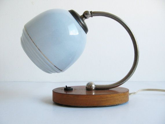 Vintage Art Deco / Bauhaus Style 1950's Lamp/ by OldishButGoldish