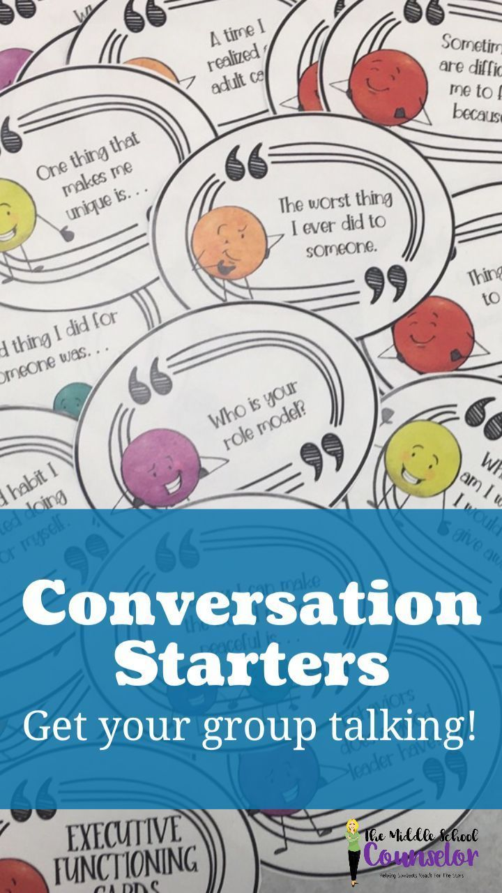 Group Conversation Starters | Therapy: Icebreakers & Activities