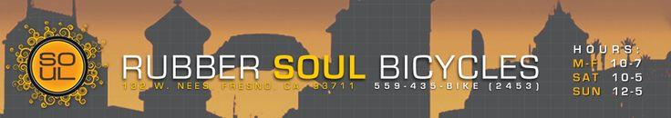 Rubber Soul Bicycles | Fresno, CA | Trek,Cervelo,Cannondale,Electra,Shimano,Bontrager,Colnago,Pinarello,Salsa,Look,Retül,Guru