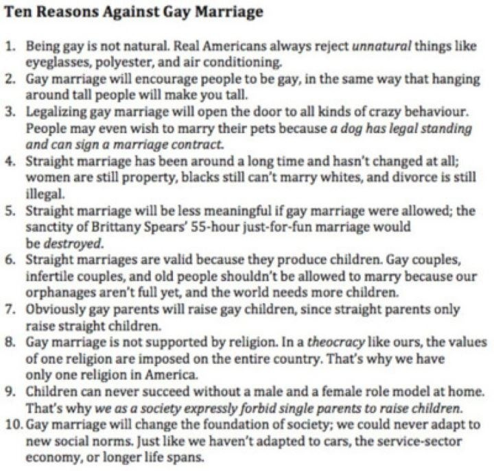 Atheist Against Gay Marriage 98