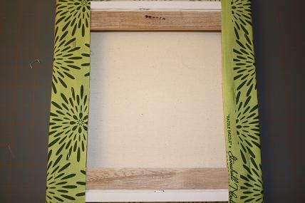 ideas about Fabric Covered Canvas on Pinterest